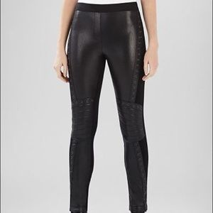 BCBGMaxAzria Eric Eyelet Faux Leather Moto Legging
